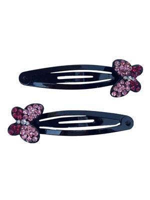 B-Fashionable SC-5-P Pink Rhinestone Women Hair Clip