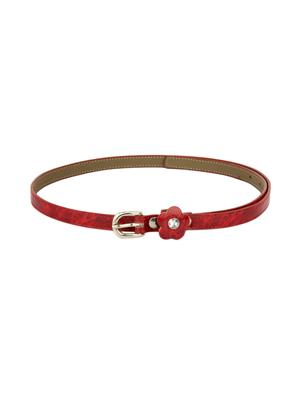 Scarleti Scrl-3 Red Women Belt