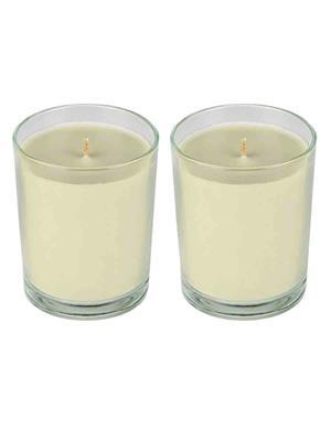 PeepalComm PPC38  Off White Glass Candle