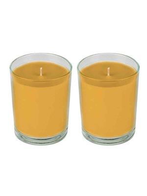 PeepalComm PPC39  Orange Glass Candle