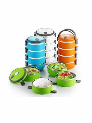 SuperDeals SD038 Lunch Tiffin Box  4 Layers Hot Box