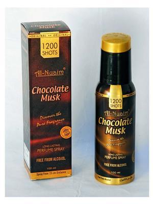 AL NUAIM SD578  Women  CHOCOLATE MUSK 100ML 1200 SHOTS PERFUME