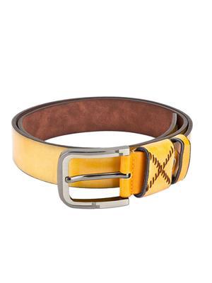 Swiss Design Sdblt-08-Yl Yellow Men Belt