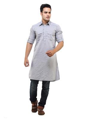 See Designs Sdmdwss14Kt103 Aish Grey Men Kurta