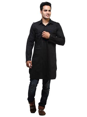See Designs Sdmdwss14Kt109 Black Men Kurta