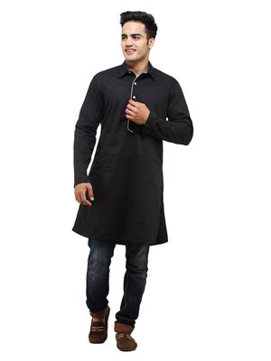 See Designs Sdmdwss14Kt116 Black Men Kurta