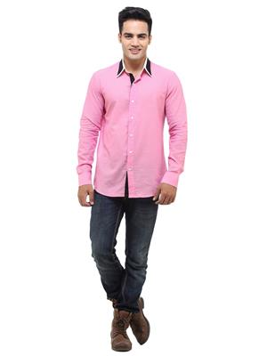 See Designs Sdmdwss14Sh107 Pink Men Casual Shirt