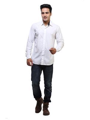 See Designs Sdmdwss14Sh141 White Men Casual Shirt