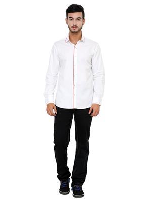 See Designs Sdmdwss15Sh198 White Men Casual Shirt