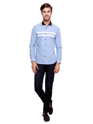 See Designs Sdmdwss15Sh256 Light Blue Men Casual Shirt
