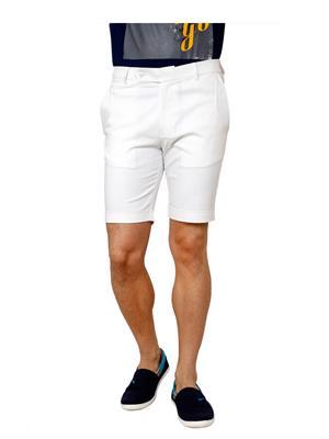 See Designs Sdmdwss15St451 White Men Shorts