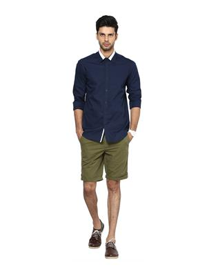 See Designs Sdmdwws14Sh608 Blue Men Casual Shirt