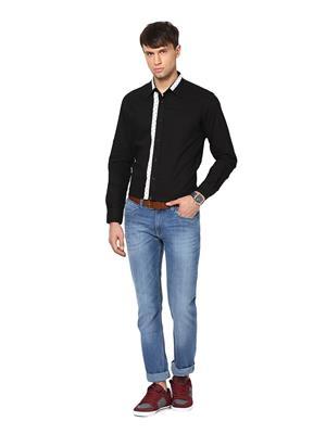 See Designs Sdmdwws14Sh610 Black Men Casual Shirt