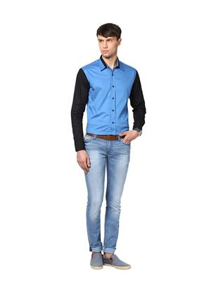 See Designs Sdmdwws14Sh612 Royal Blue Men Casual Shirt