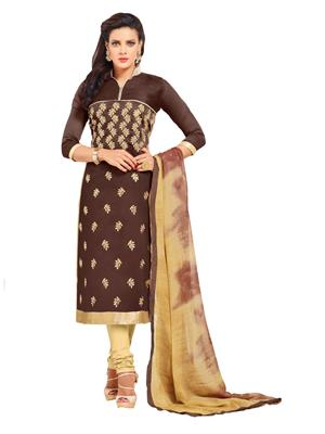 Sareefab Sf139Ss028 Brown Women Salwar Suit