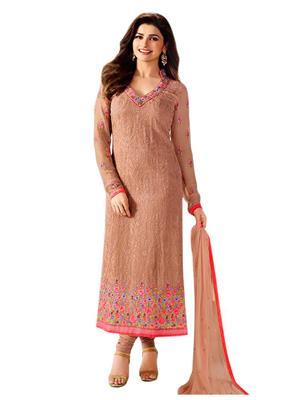 Sareefab Sf148Ss1001 Brown Women Salwar Suit