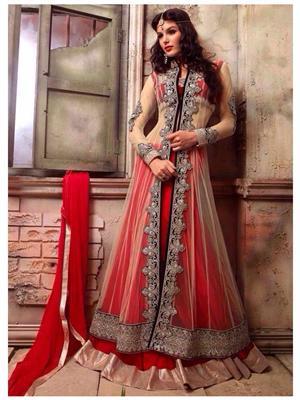 Sareefab Sf181Ss4103A Red Women Anarkali Suit