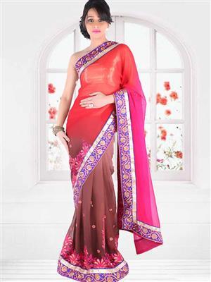 Suchi Fashion SFEEV50296 Pink Women Saree