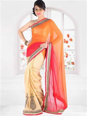 Suchi Fashion SFEEV50299 Beige Women Saree