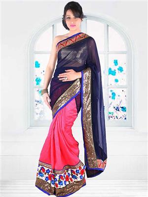 Suchi Fashion SFEEV50300 Blue Women Saree