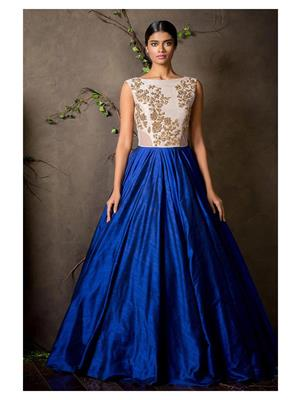 Shreeji Fashion Sfg05 Blue-White Women Gown