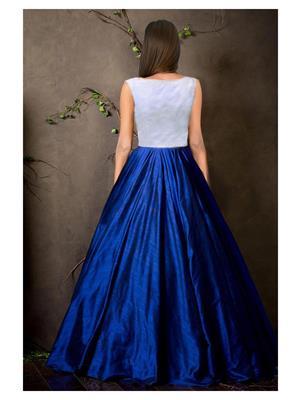 57b09255c8f Shreeji Fashion Sfg05 Blue-White Women Gown