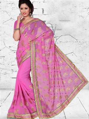 Suchi Fashion SFICH50699 Pink Women Saree