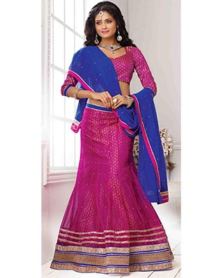 Suchi Fashion SFJAG90202 Pink Women Lehenga Choli