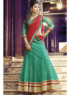 Suchi Fashion SFJAG90254 Green Women Lehenga Choli