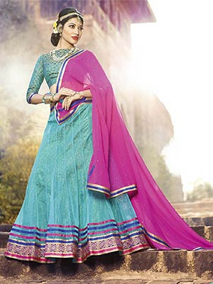 Suchi Fashion SFJAG90259 Blue Women Lehenga Choli