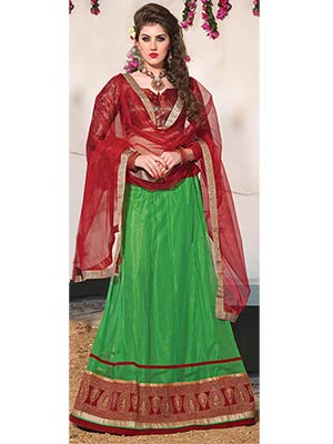 Suchi Fashion SFJAM90281 Green Women Lehenga Choli