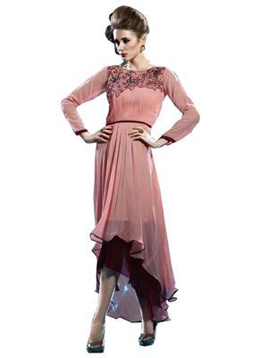 shreeji Fashion SFK38 Peach Women Dresses