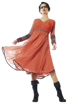 shreeji Fashion SFK48 Peach Women Dresses