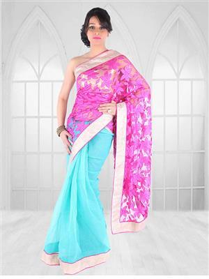 Suchi Fashion SFNIV50329 Pink Women Saree