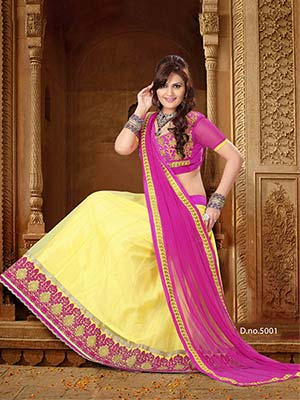 Suchi Fashion SFRAN90112 Yellow Women Lehenga Choli