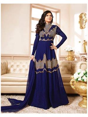 shreeji Fashion SFS69 Blue Women Anarkali Suit