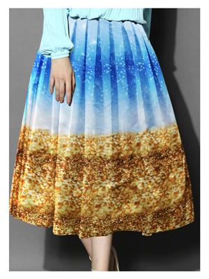 Shreeji Fashion Sft-03 Blue-Brown Women Skirt