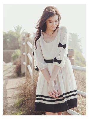 Shreeji Fashion Sfw11 Off White Women Dress