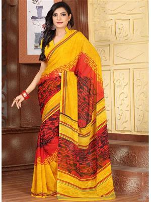 Suchi Fashion SFYOR50362 Yellow Women Saree
