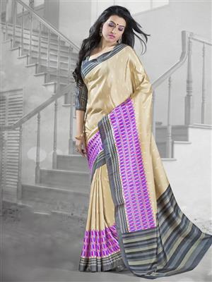 Suchi Fashion SFYOR50365 Gold Women Saree