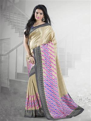 Suchi Fashion SFYOR50369 Gold Women Saree