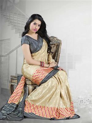 Suchi Fashion SFYOR50377 Gold Women Saree