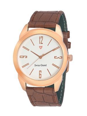 Swiss Grand SG-1046 White Men Analog Watches