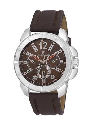 Swiss Grand SG-1050 Brown Men Analog Watches