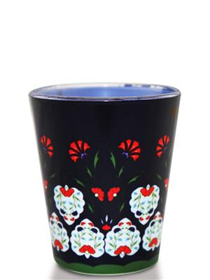 Kolorobia SGTU10 Smile Flowers Turkish Shot Glass