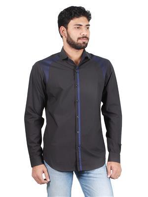 Qdesigns Sh 40 Black Men Casual Shirt