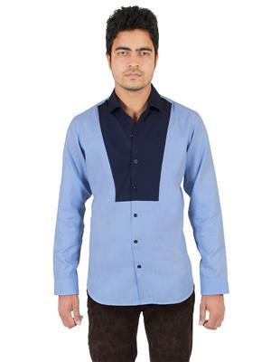 Qdesigns Sh 43 Blue Men Casual Shirt