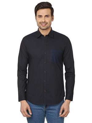 Qdesigns Sh 92 Black Men Casual Shirt