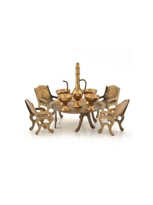 ShopMeCraft SJ-26 Maharaja Dining Table Chair Showpiece