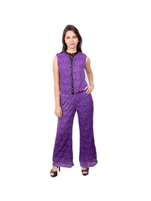 Bele Nation  SK03 Purple Girls Jumpsuit